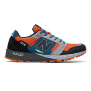 New Balance Made in UK 575, Black with Orange & Petrol