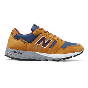 New Balance Made in UK 575, Golden Blaze with Chambray & Burgundy