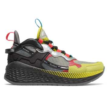 New Balance Test Run PRJ 2.0 Fresh Foam More限量版男款運動鞋, 黃色/黑色/銀色