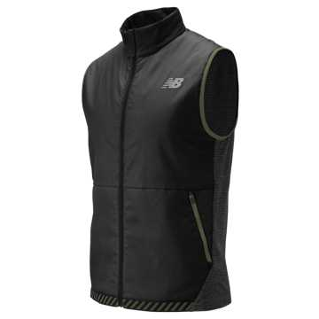 New Balance NB Heat Grid Vest, Black Heather with Black