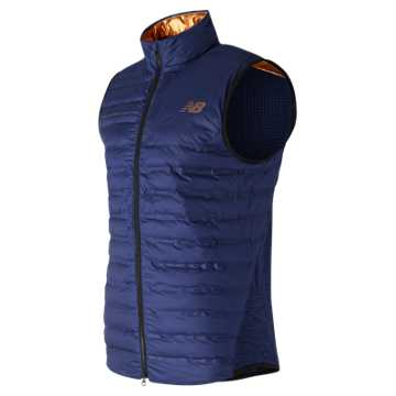 New Balance NYC Marathon Bonded Radiant Heat Vest, Techtonic Blue