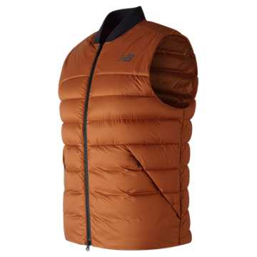 New Balance NB Heat Down 600D Vest, Canyon