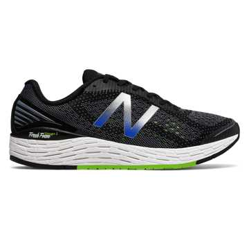 New Balance Fresh Foam Vongo v2, Black with Energy Lime & Vivid Cobalt Blue