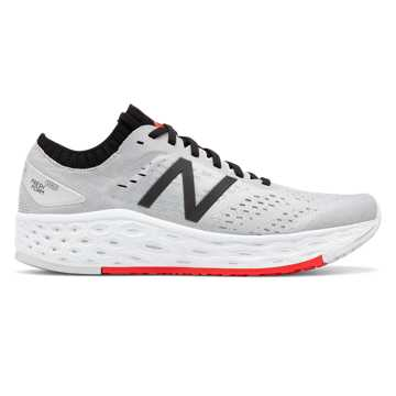 New Balance Fresh Foam Vongo v4, Light Aluminum with Black & Energy Red