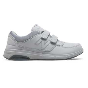 New Balance Men's Hook and Loop 813, Silver Mink with Lead