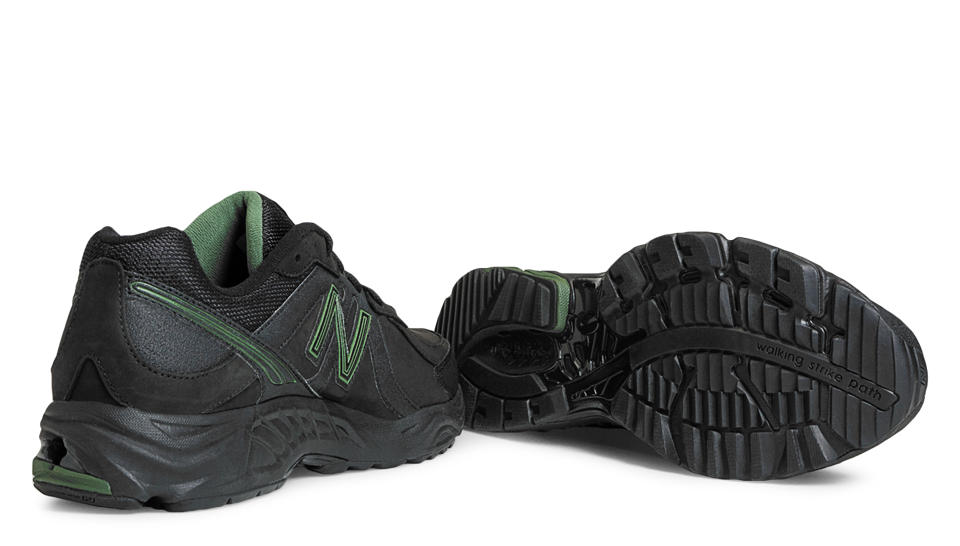 new balance black and green