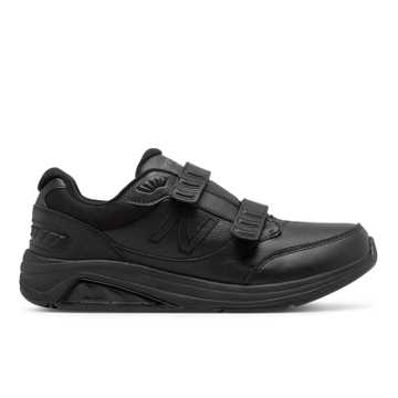 New Balance Men's Hook and Loop Leather 928v3, Black