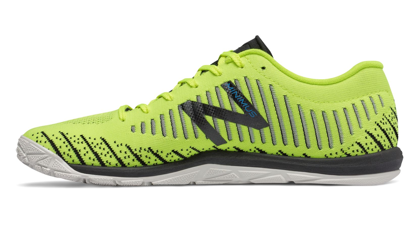 NB Minimus 20v7 Trainer, Energy Lime with Black & Bolt