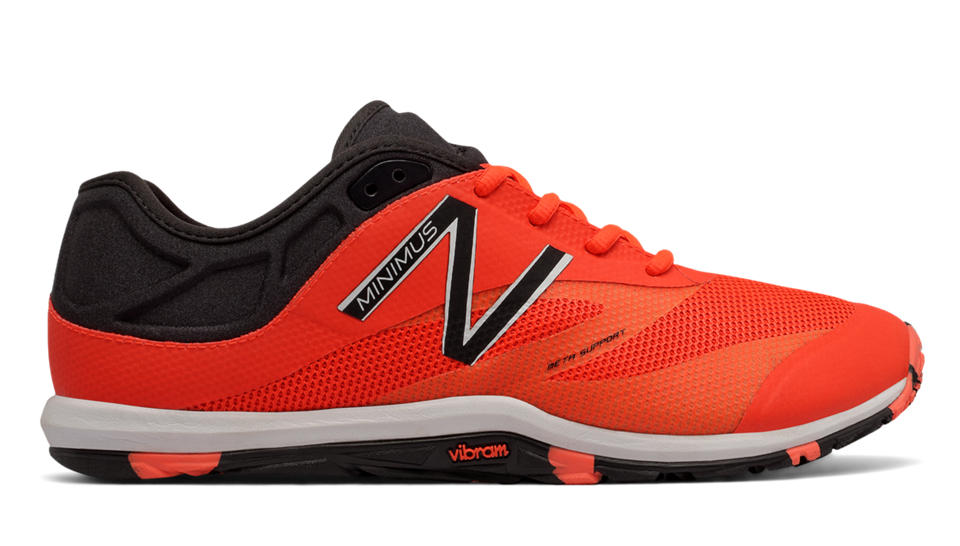 new balance shoes red and black. new balance exclusive minimus 20v6 trainer, alpha orange with black shoes red and