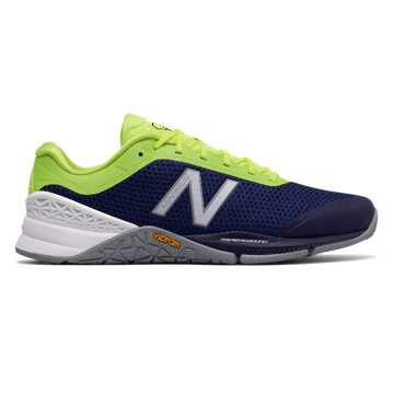 New Balance Minimus 40 Trainer, Hi-Lite with Dark Denim & Steel