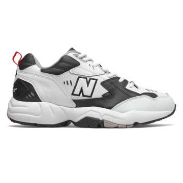 New Balance 608v1, White with Black