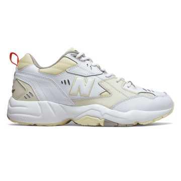 New Balance 608v1, White with Flat White