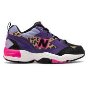 NB 608, Black with Prism Purple & Leopard Print