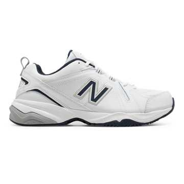New Balance Mens New Balance 608v4, White with Navy