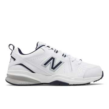 9104c0dd0fcef New Balance 608v5, White with Navy