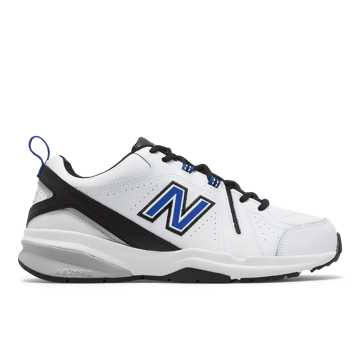 New Balance 608v5, White with Team Royal & Black
