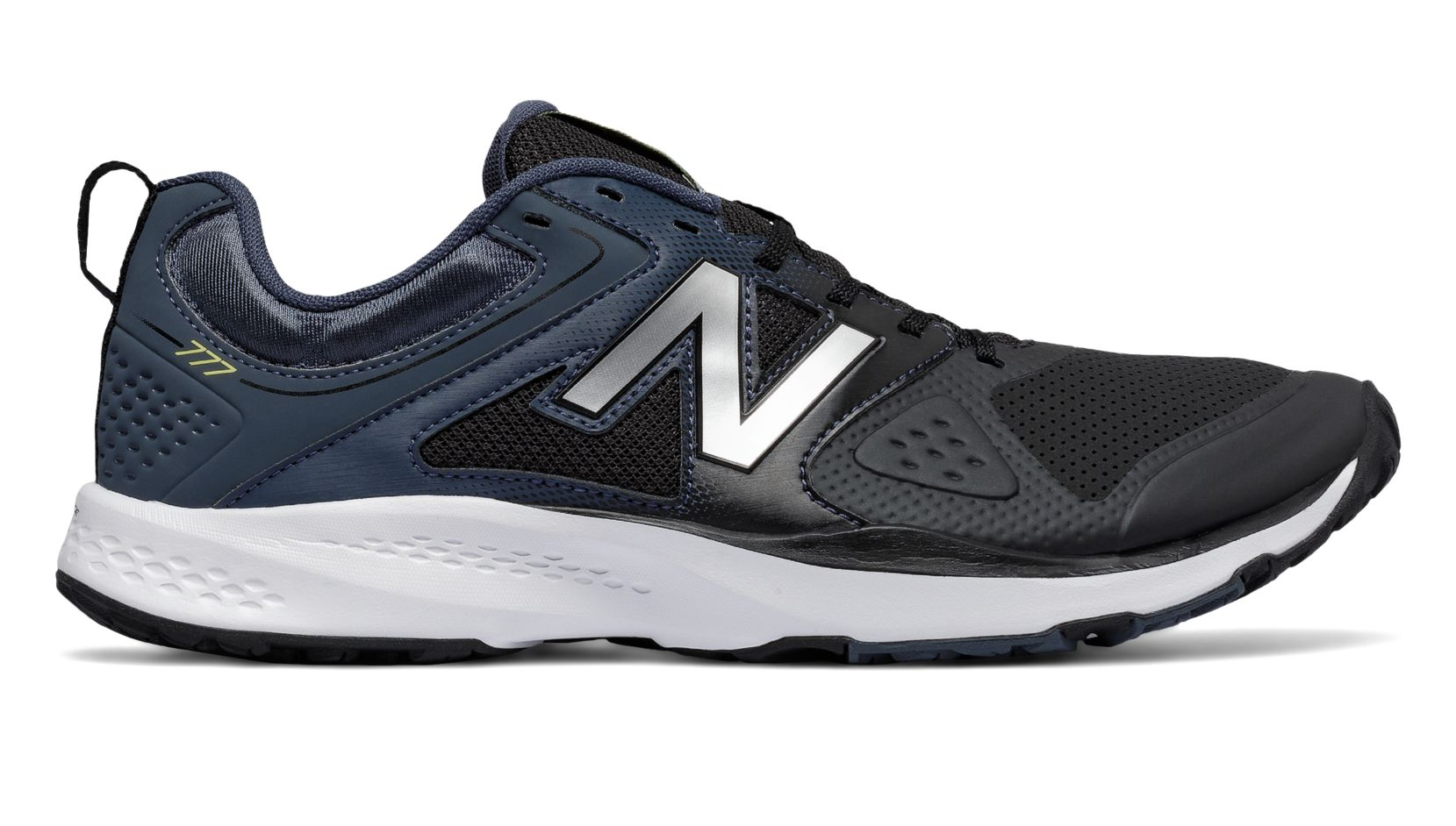 NB New Balance 777v2 Trainer, Black with Grey