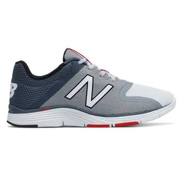 New Balance New Balance 818v2 Trainer, White with Steel & Thunder