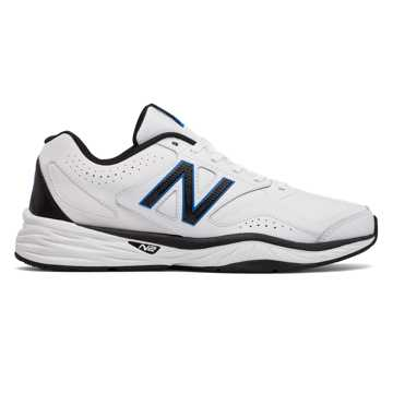 New Balance New Balance 824 Trainer, White with Black & Placid Blue