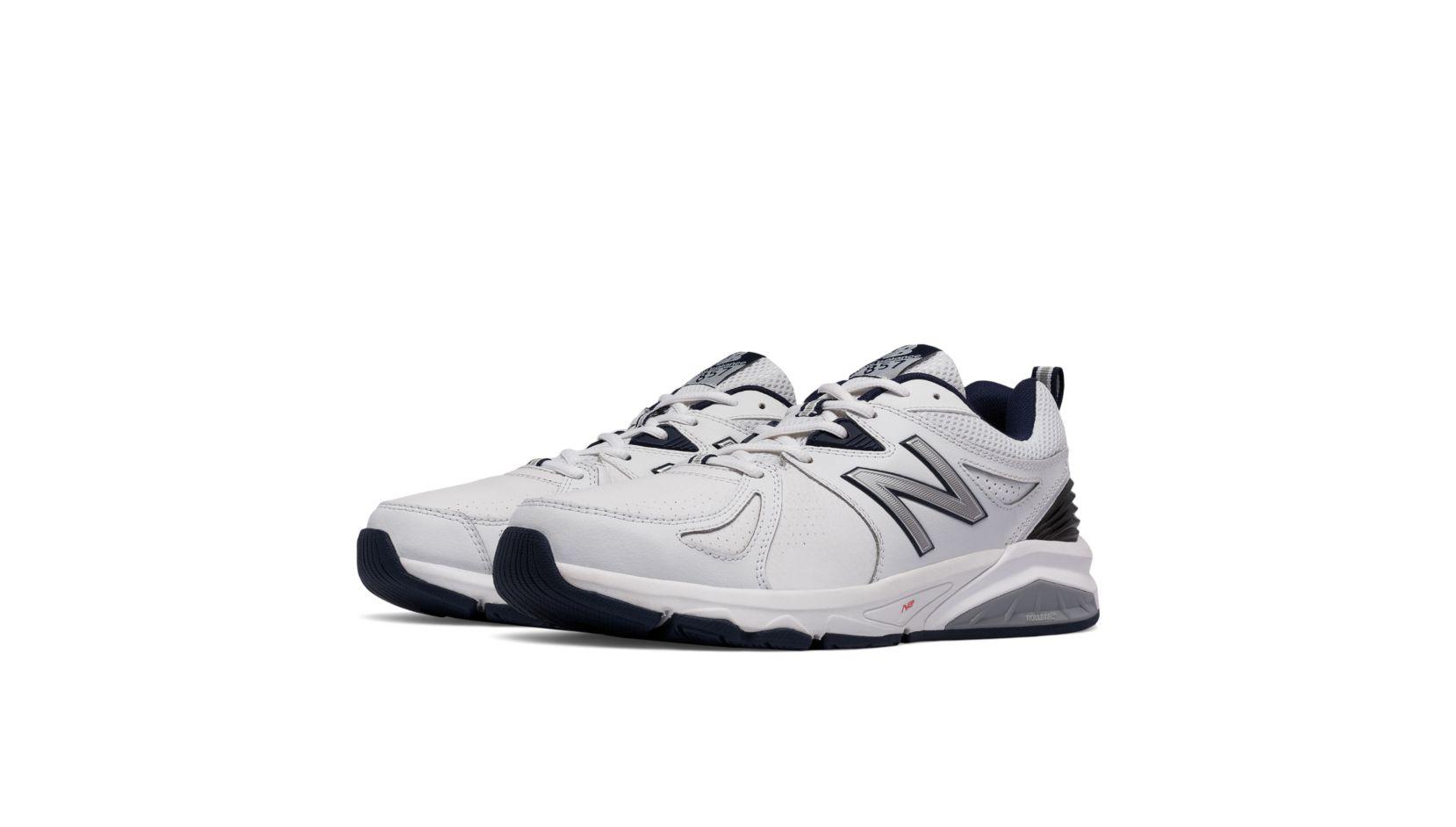 New Balance 857v2, White with Navy
