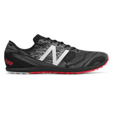 New Balance XC 7 Spikeless, Black with Bright Cherry