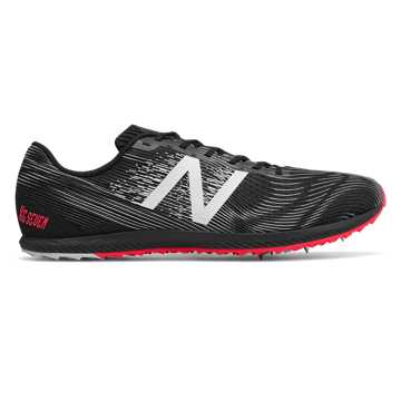 New Balance XC 7, Black with Bright Cherry