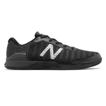 New Balance Minimus Prevail, Black with Magnet & Metallic Silver