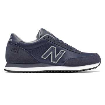 New Balance 501 Ripple Sole, Navy with Silver Mink