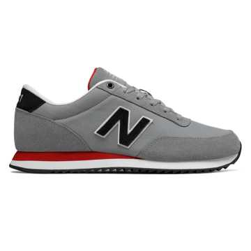 New Balance 501 Textile, Grey with Black