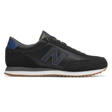 New Balance 501, Black with Moroccan Tile