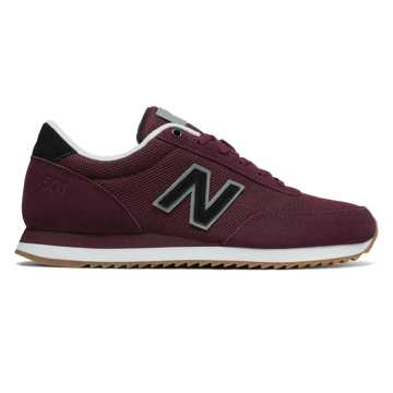 New Balance 501 Ripple Sole, Chocolate Cherry with Steel
