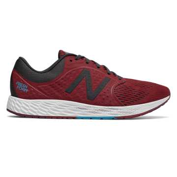 New Balance Fresh Foam Zante v4, Scarlet with Phantom & Maldives Blue