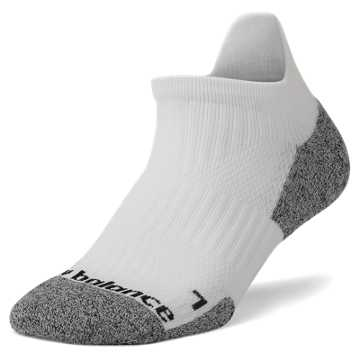 New Balance Cushioned No Show Tab, White