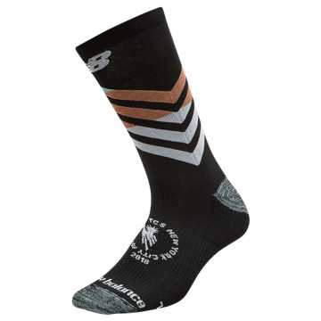 New Balance NYC Marathon Crew Sock, Black