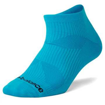 New Balance Flat Knit No Show Socks, Blue