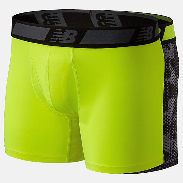 New Balance NB Dry 6 Inch Boxer Brief 2 Pack, NB1005BHL