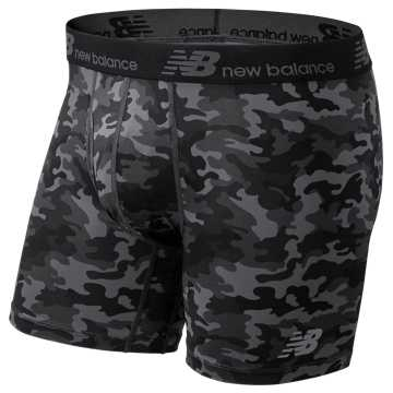 New Balance Fresh 6 Inch Boxer Brief 2 Pack, Magnet with Camo Green