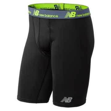 New Balance NB Dry 9 Inch Boxer Brief 1 Pair, Black
