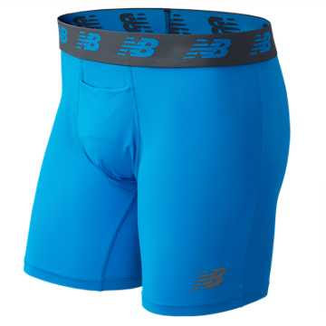 New Balance Mesh 6 Inch Boxer Brief, Blue