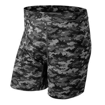 New Balance Premium 6 Inch Pocket Boxer Brief 1 Pair, Black with Digital Camo