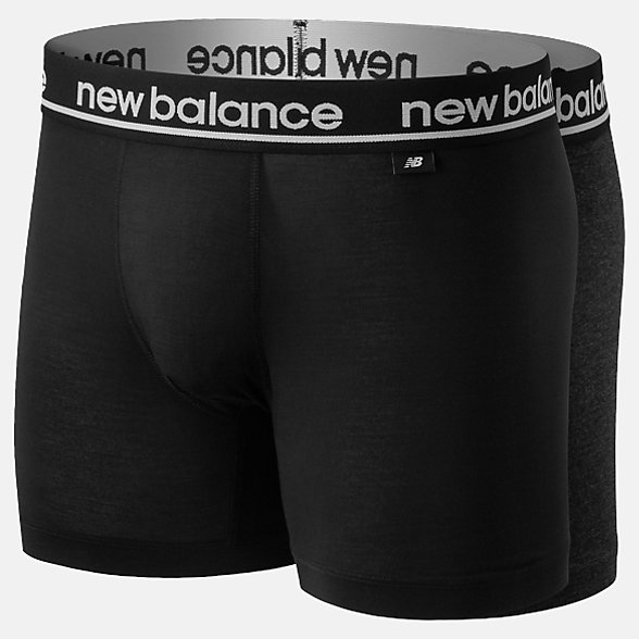 New Balance Mens Viscose 5 Inch Boxer 2 Pack, NB1087BG