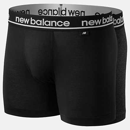 New Balance Mens Viscose 5 Inch Boxer 2 Pack, NB1087BG image number null