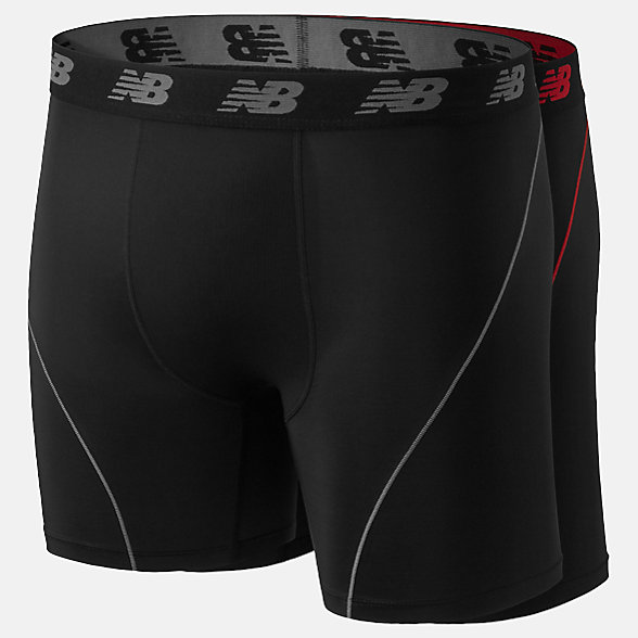 New Balance Mens Ice 2.0 6 Inch Boxer 2PK, NB1091BK