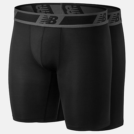 New Balance Mens Dry/Fresh 9 Inch Brief 2 Pack, NB1097BK image number null
