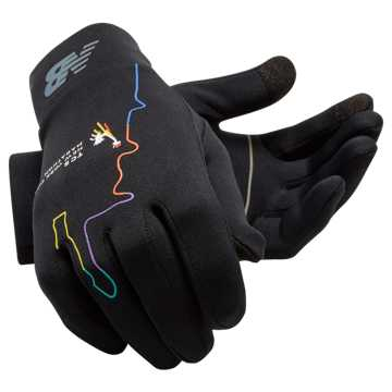 New Balance TCS NYC Marathon Heavyweight Glove, Black with Multi Color