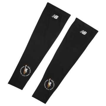 New Balance NYC Marathon Arm Sleeves, Black with White