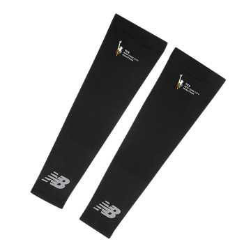 New Balance TCS NYC Marathon Arm Sleeves, Black