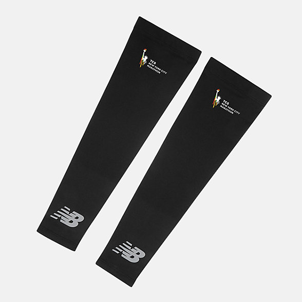 New Balance TCS NYC Marathon Arm Sleeves, NB2021MBK