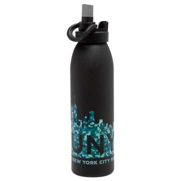 New Balance NYC Marathon Water Bottle, Black