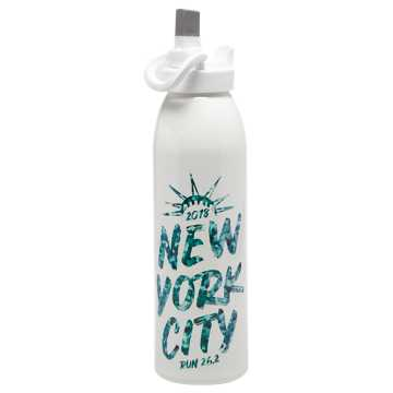 New Balance NYC Marathon Water Bottle, White